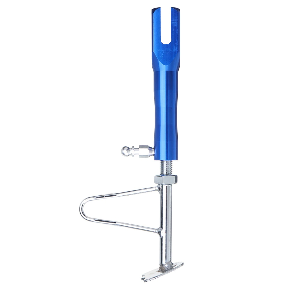 Universal Motorcycle Adjustable 235-270mm Side Stand, Heavy Duty CNC Cut Leg Prop Pos Bike Side Stand for Support Parking