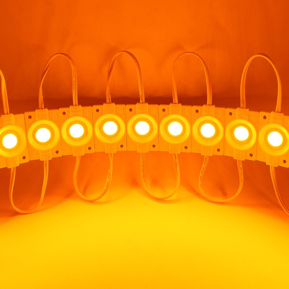 Yellow Ultra Bright 2.4W COB LED Light Module, Bead Chip Light Strip, DIY, DC 12V, IP65 Waterproof, Injection COB LED 2.4W Module
