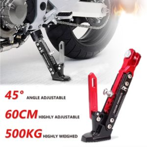 Universal Motorcycle Heavy Duty CNC Aluminum Alloy Adjustable Kickstand Foot Side Stand for Motorcycle (175mm to 235mm), Leg Prop Pos Bike Side Stand for Support Parking