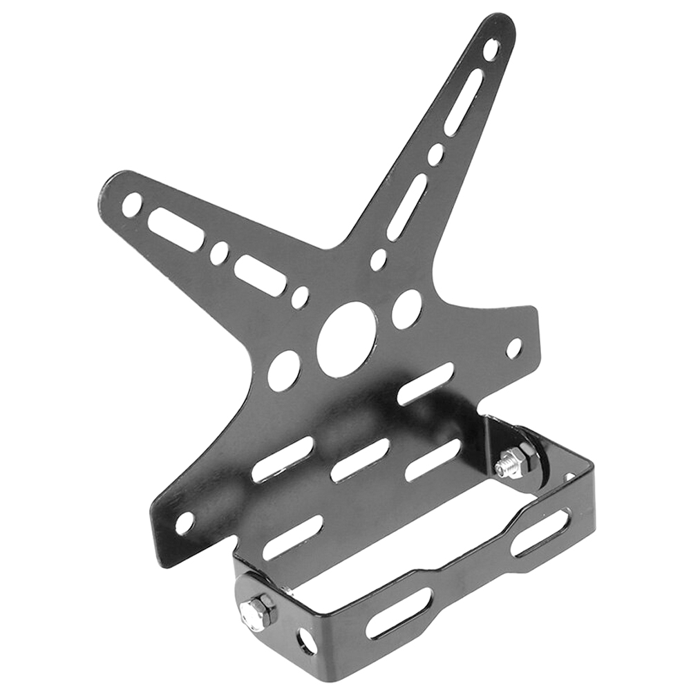 Universal Motorcycle Adjustable Number License Plate Holder, Aluminum Alloy Tail Tidy Mount Bracket Number Plate Holder