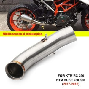 Stainless Steel Motorcycle Exhaust Middle Muffler Bend Pipe for KTM RC 390/ KTM DUKE 125/ KTM DUKE 250/ KTM DUKE 390 (2017-2018 Models)