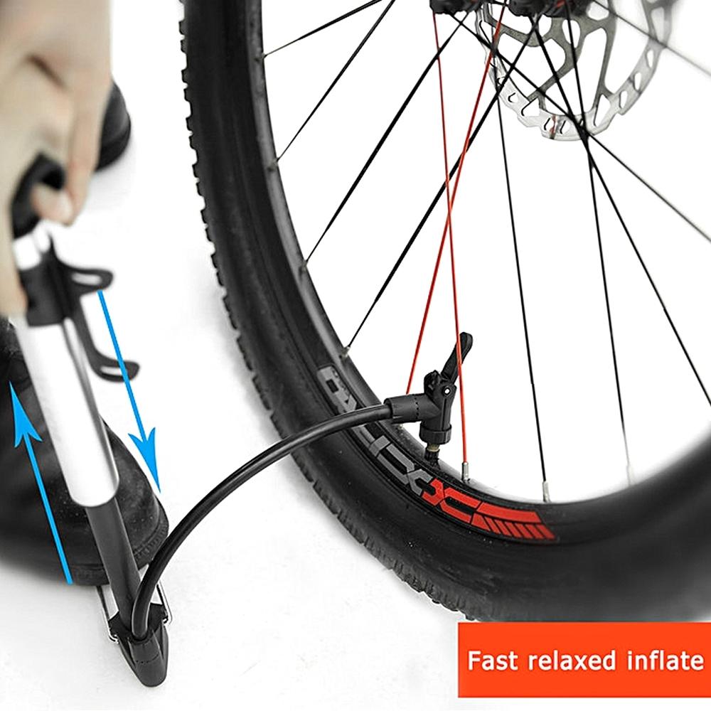 Mini Pump High Pressure Landing Portable Mountain Bike Bicycle Pump, Portable Hand Air Pump, LC-2729, Black & Silver
