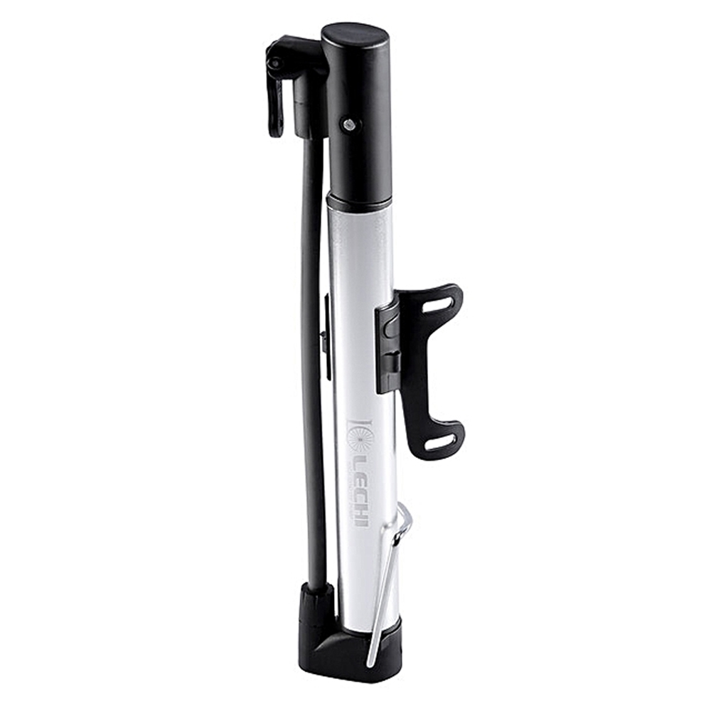 Mini Pump High Pressure Landing Portable Mountain Bike Bicycle Pump, Portable Hand Air Pump, LC-2729, Black & Silver