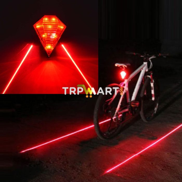 USB Rechargeable 6 Mode Dual Color LED Bike Bicycle Tail Safety Warning Light