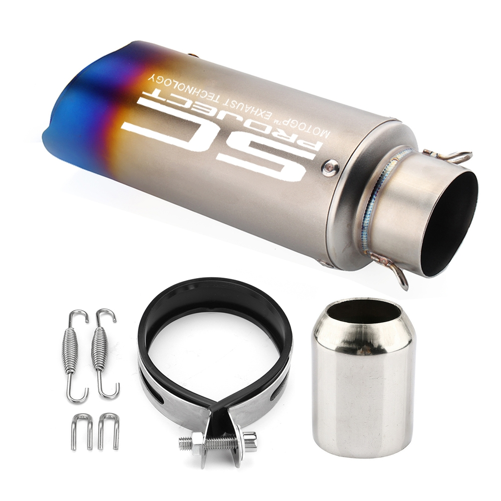Universal SC Project Multicolour Double Cut Exhaust Silencer, 36-51 mm Muffler Pipe for all Bikes/ Motorcycle
