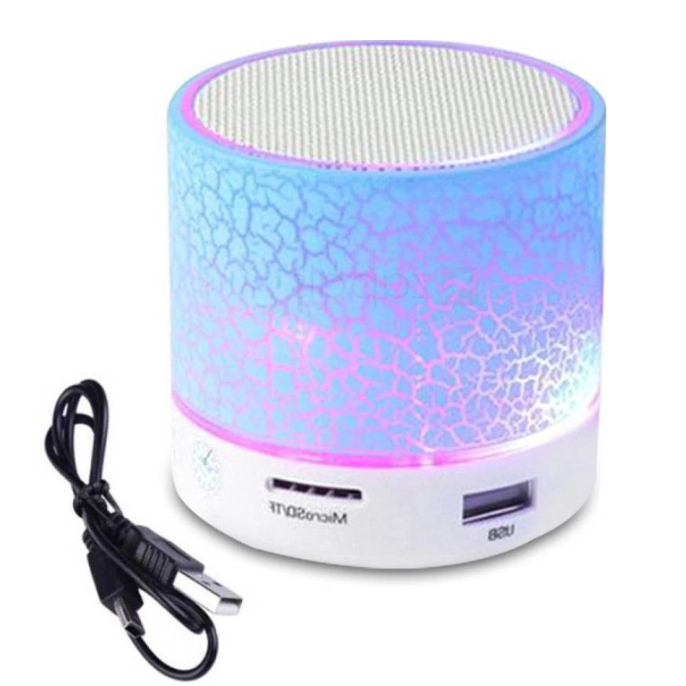 Mini S10 Bluetooth Speaker, Wireless LED Bluetooth Speaker with FM TF Card and Lights for All Android and Smartphones