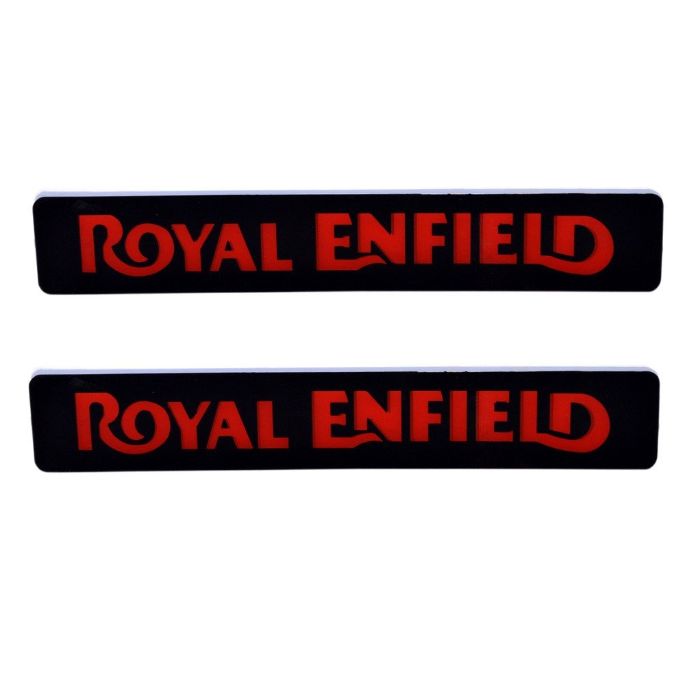 Red DRL Light, Front & Rear LED Light with Royal Enfield Logo for all Royal Enfield Bikes