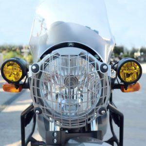 Stainless Steel CNC Headlight Grill for Royal Enfield Himalayan, Headlight Grill Jaali Cover for Himalayan Bike