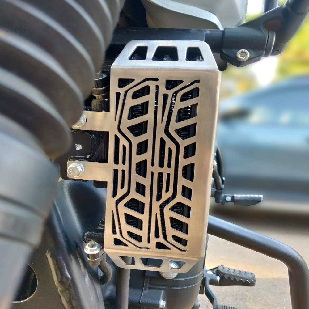 Stainless Steel CNC Radiator Guard for Royal Enfield Himalayan, Radiator Protector Cover Himalayan Bike