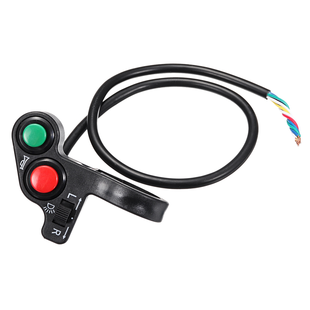 3 in 1, 22mm Handlebar Horn, Light ON/ OFF, Turn Signal Indicator Switch Button for Motorcycle, ATV Quad, Pit Bike, Electric Bike