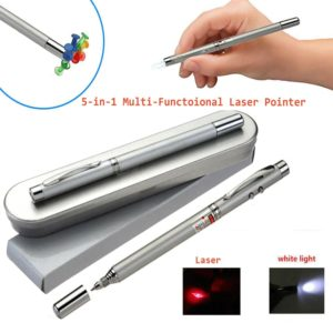 5 in 1 Multi Utility Pen With Laser Pointer, LED Flashlight, Magnet, Antenna, Ball Pen, Retractable Pointer Presentation – A Perfect Corporate Gift