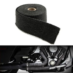 Universal 3 Meter Bike Incombustible Turbo Exhaust Heat Shield Silencer Wrap with Clamps for Royal Enfield & All Motorcycles