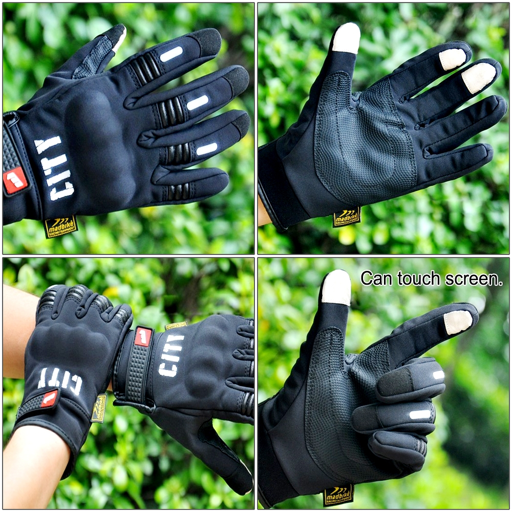 CITY Hand Protection Smart Phone Touch Gloves for Bike/ Motorcycle/ Cycle Riding/ Outdoor Sports Racing/ Camping Full Finger, All Season