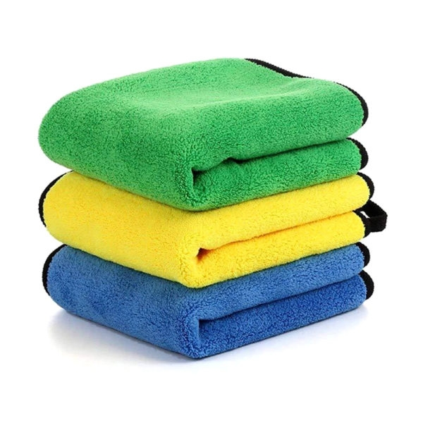 Multipurpose Double Color Ultra-fine Microfiber Towel, Drying Fiber Cloth Thick Plush Super Absorbent, Lint-free, 850 GSM