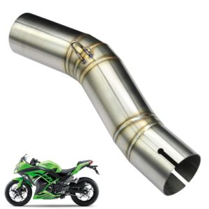 Stainless Steel Motorcycle Exhaust Middle Muffler Bend Pipe for Kawasaki Ninja 250/ Ninja 300