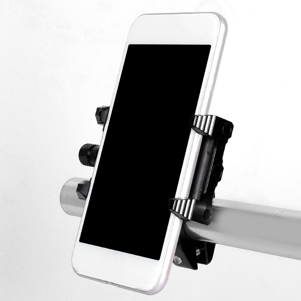 Universal CNC, Motorcycle Handlebar Mount Holder Stand for 3.5-6.2 Inch Mobile, GPS, Gopro Action Camera, Anti-Slip Fixed Bracket Shockproof